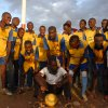 George Obama, the US President's brother, with his slum football team
