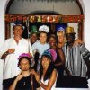 Author, bottom left, New Year 2000, East Africa, partying.