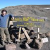 Author at Gilman's Point, prior to Kilimanjaro summit climb.
